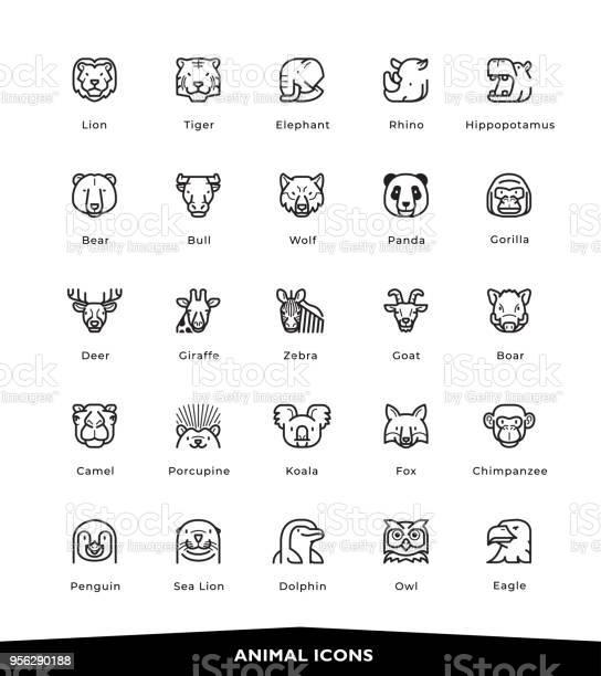 Animal icons vector id956290188?b=1&k=6&m=956290188&s=612x612&h=w4xbu4dcvvonbv93iz2z yqw nrbixlv03wv0kvrpzy=