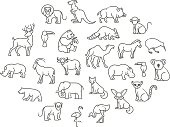 animal icons. Zoo Animals