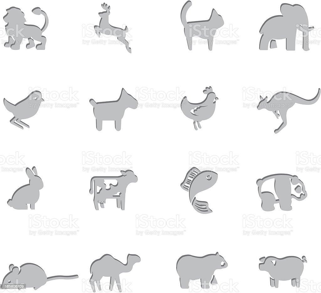 Animal Imprint Symbols royalty-free stock vector art
