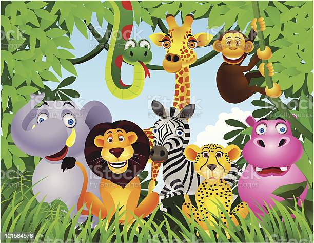 Animal In The Jungle Stock Illustration - Download Image Now