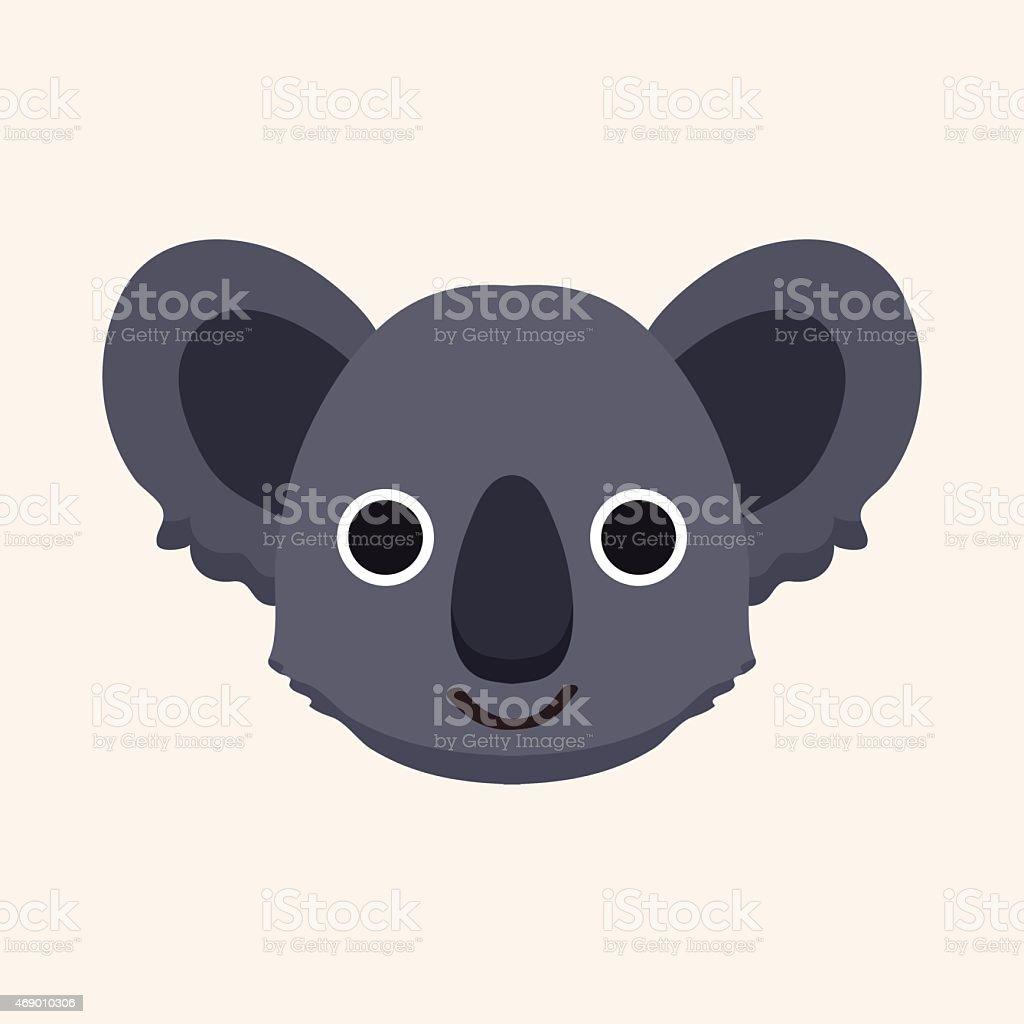 animal koala cartoon theme elements vector art illustration