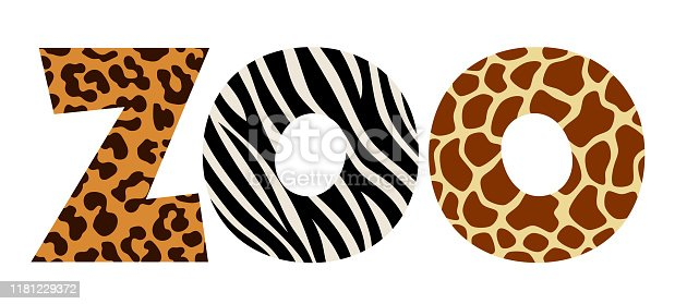 Animal letters zoo on a white background