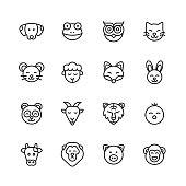 16 Animal Outline Icons.