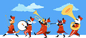Animal marching band