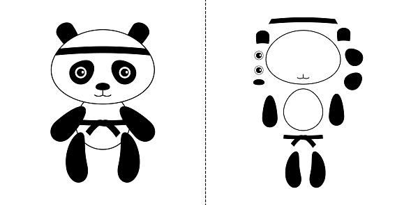 Animal mascot for kid's martial arts club like judo, jujutsu