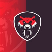 Mascot logo design vector with modern illustration concept style for badge, emblem, t shirt printing and any design