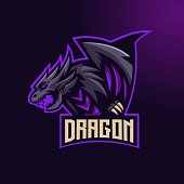 Animal mascot logo design vector with modern illustration concept style for badge, emblem and t shirt printing. Angry animal illustration for sport and e-sport team.