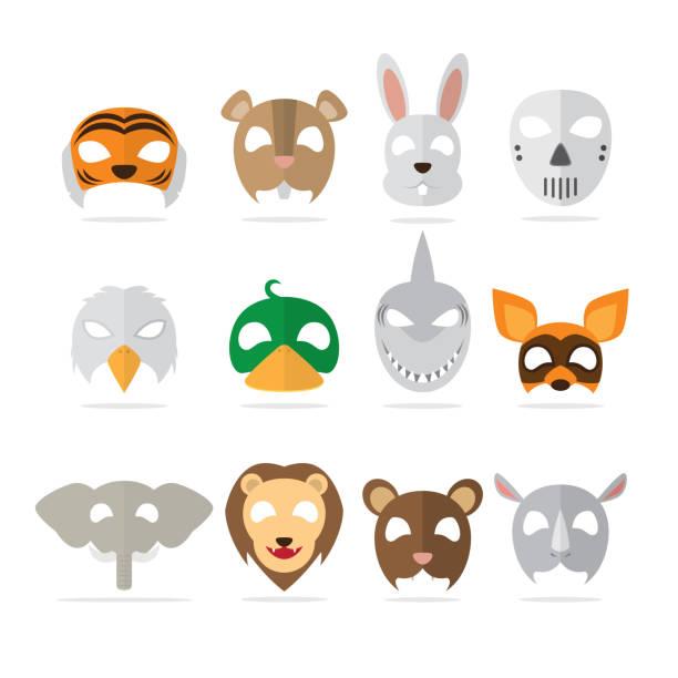 tiermaske - giraffenkostüm stock-grafiken, -clipart, -cartoons und -symbole