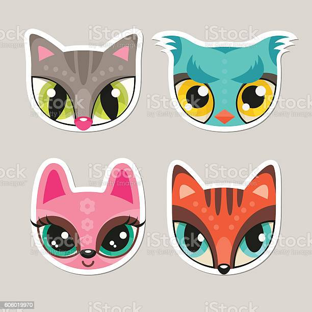 Animal muzzles in flat style cat owl bunny fox vector id606019970?b=1&k=6&m=606019970&s=612x612&h=znkjdenusyfoob6xmepl8permzm ekoym0f43x0bc7i=