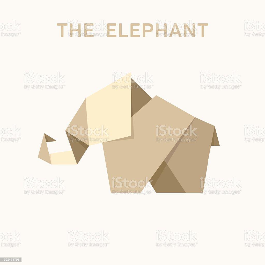Animal origami elephant into flat illustration logo design stock animal origami elephant into flat illustration logo design royalty free animal origami elephant into flat jeuxipadfo Choice Image