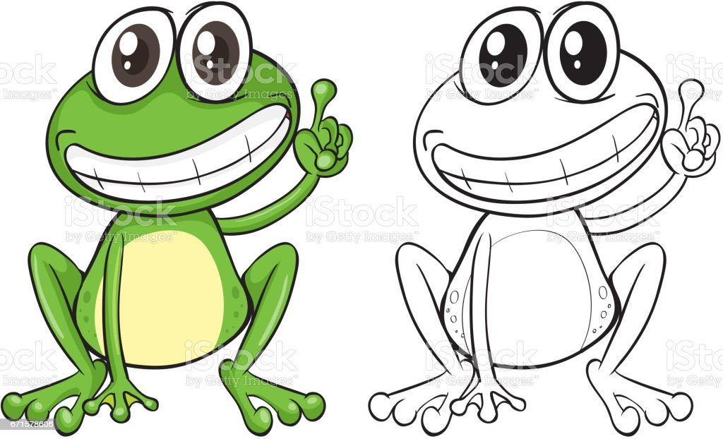 animal outline for funny frog stock vector art more images of rh istockphoto com frog vector images frog vector art free