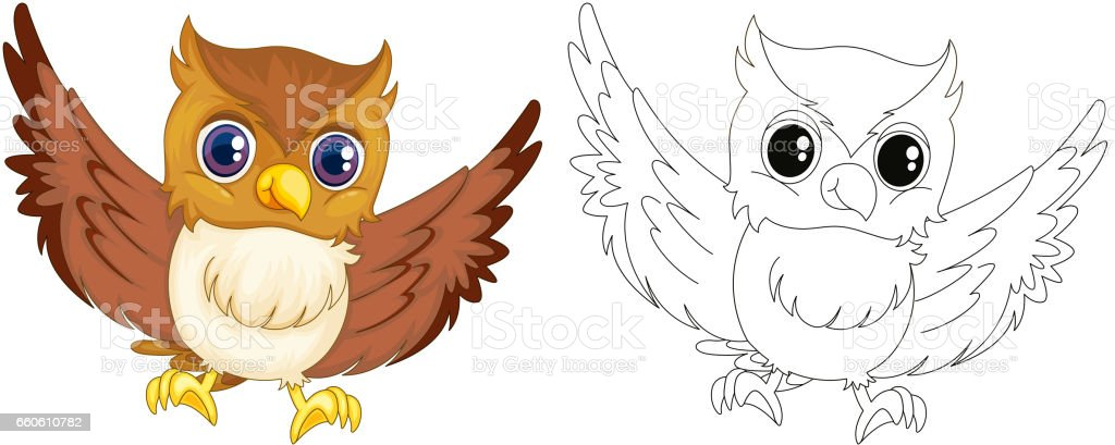 Animal outline for owl royalty-free animal outline for owl stock vector art & more images of animal