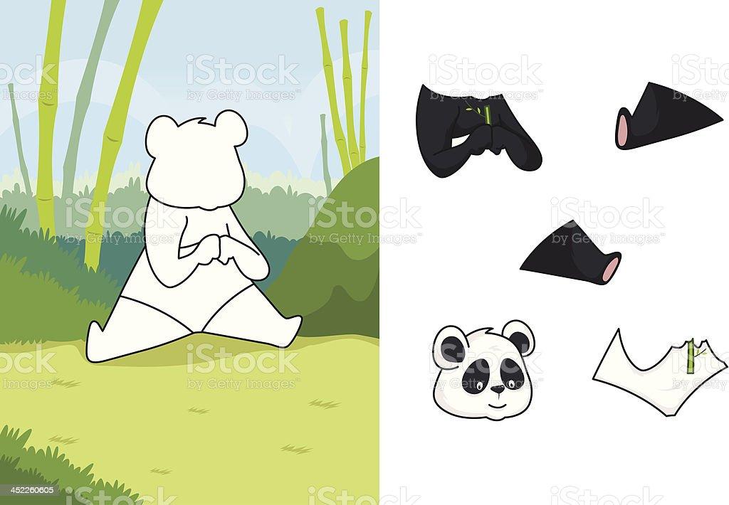 Animal panda puzzle royalty-free animal panda puzzle stock vector art & more images of animal