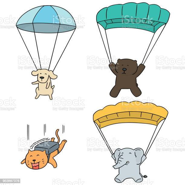 Animal parachuting vector id953887376?b=1&k=6&m=953887376&s=612x612&h=4gxeovm7ohr1kec2we5ijjk7ch4bn2csfjlfhluvfyq=