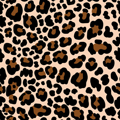 Animal pattern leopard seamless background with spots