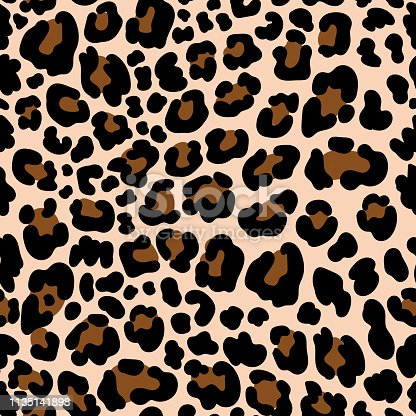Animal pattern leopard seamless background with spots. Illustration of skin leopard animal, print pattern vector