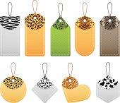 Animal patterns price tags