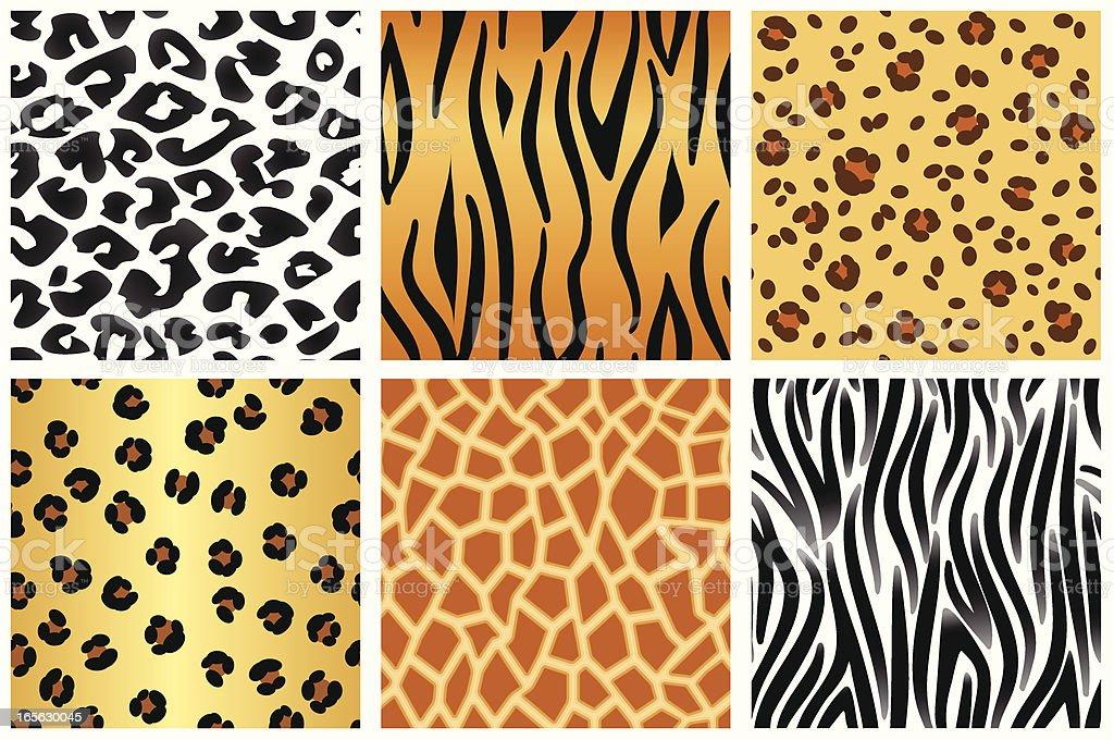 Animal patterns vector art illustration