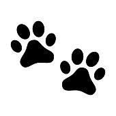 Vector art: paw symbol.