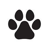istock Animal paw print icon. Dog or cat paw print. 1188848722