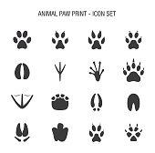 Animal Paw Print Icon Set