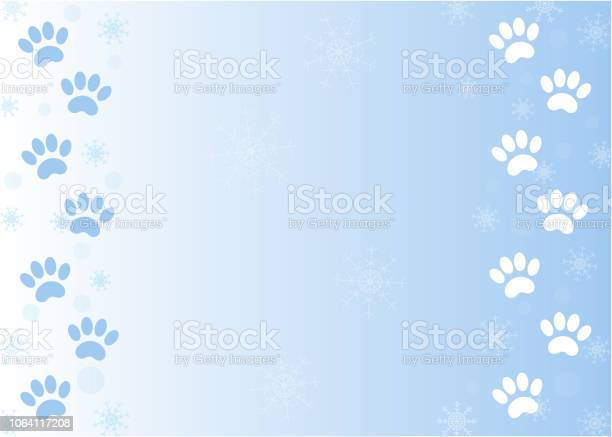 Animal paw prints on blue winter background vector id1064117208?b=1&k=6&m=1064117208&s=612x612&h=4ksvvapj9ny7cjikt69oang3chuqhznd oqql5ud0hc=