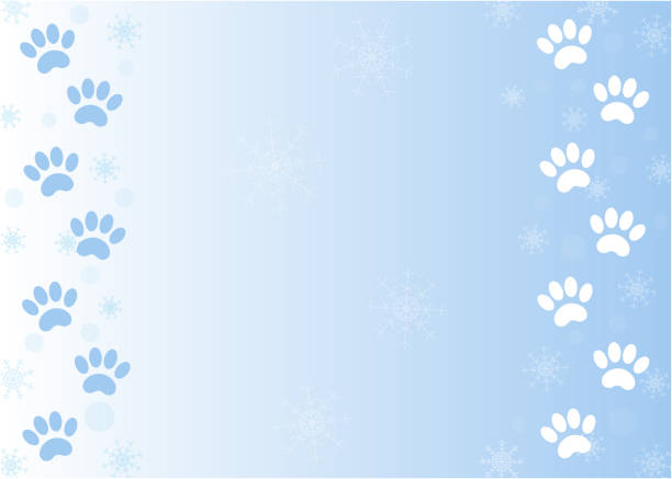 Best paw print border illustrations royalty free vector graphics clip art istock - Paw print wall border ...