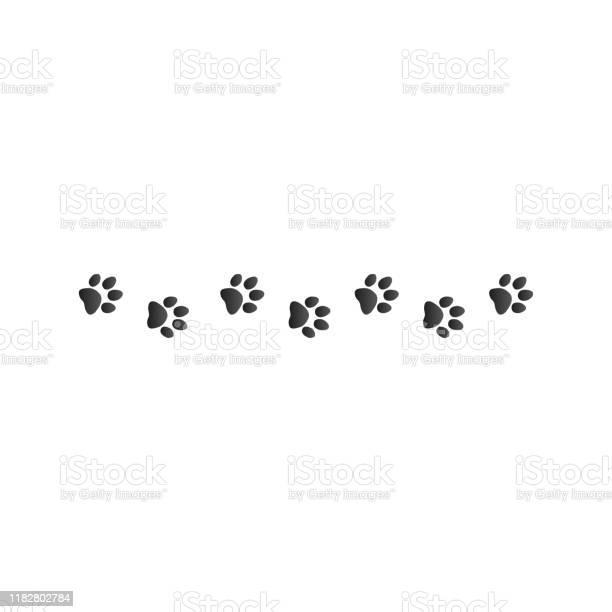 Animal paw prints stock vector illustration isolated on white vector id1182802784?b=1&k=6&m=1182802784&s=612x612&h=8aprqc9w2 1bvwq4hgitbz nytwqv9 yinj5ol45ham=