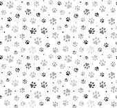 istock Animal Paw Seamless Pattern stock illustration 1189999060