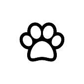 Animal paw vector icon