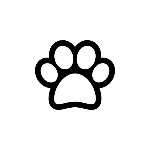 Animal paw vector icon Animal paw vector icon paw stock illustrations