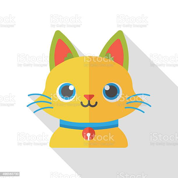 Animal pet cat flat icon vector id496583730?b=1&k=6&m=496583730&s=612x612&h=l60unhygf ffjjguvmz0 nipb oevoppn9vyafe6ntu=