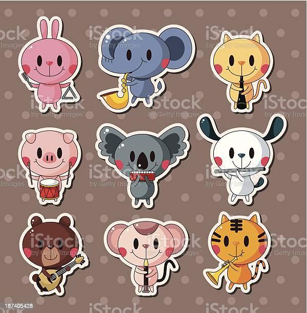 Animal play music stickers vector id187405428?b=1&k=6&m=187405428&s=612x612&h=gabj9g5ij2yngxexb0dtkf7estzihgtzy hkvsor6k0=