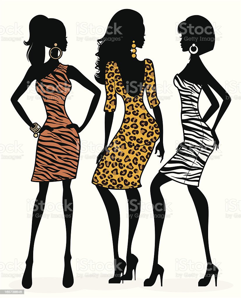 royalty free pretty zebra print silhouette clip art vector images rh istockphoto com