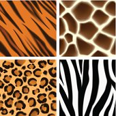 Animal print seamless patterns