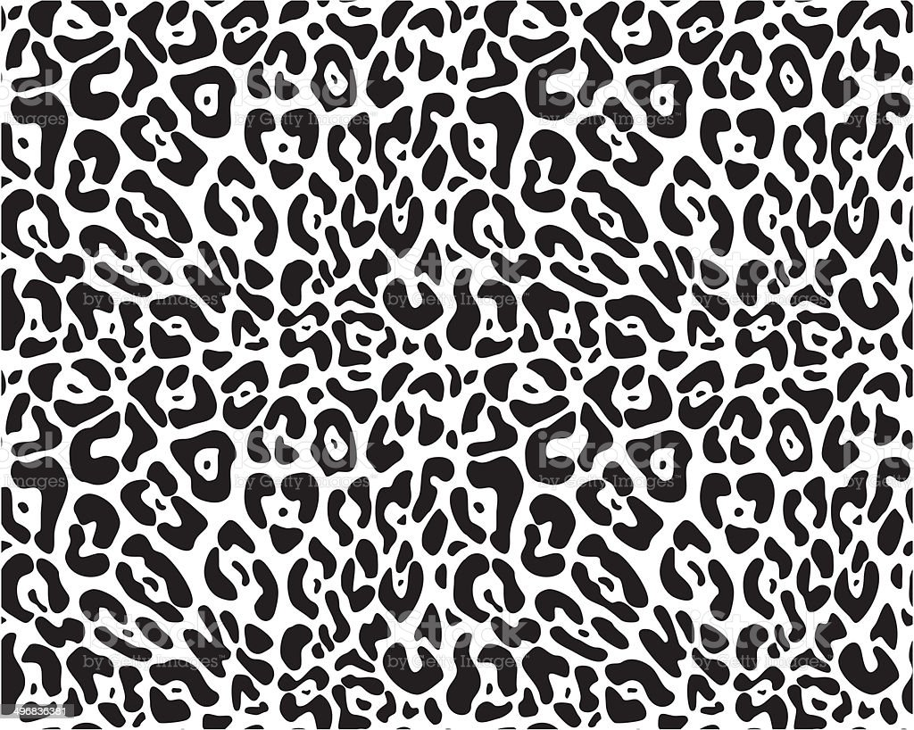 Animal print seamless vector pattern vector art illustration