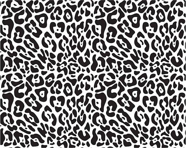 animal print seamless vector pattern - jaguar stock illustrations