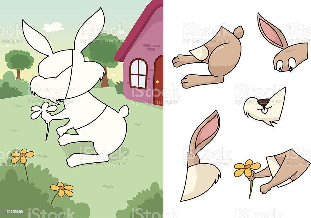 Animal rabbit puzzle royalty-free stock vector art