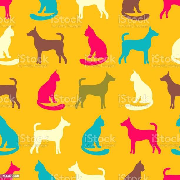 Animal seamless vector pattern of cat and dog silhouettes vector id506390058?b=1&k=6&m=506390058&s=612x612&h=w5vpn f5pxrg6b3gdy fdjonnshid5tog5p5dvh1iro=