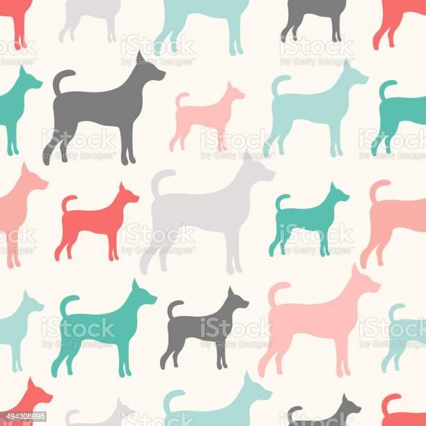 Animal seamless vector pattern of dog silhouettes endless textu vector id494308695?b=1&k=6&m=494308695&s=612x612&h=uhu rny1rm6fujzcuyn8gbrobspgcf1m4fnztzqpzwc=