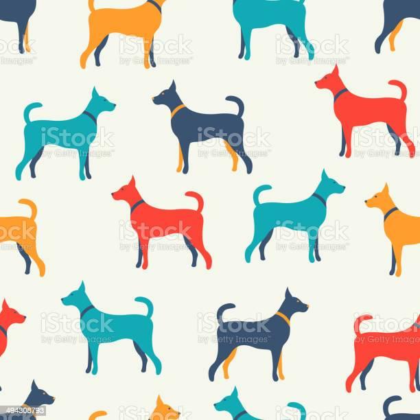 Animal seamless vector pattern of dog silhouettes endless textu vector id494308793?b=1&k=6&m=494308793&s=612x612&h=klpshb1m5kmmslb4i1mshtvgfrnn2qt6ilenphi5 r4=