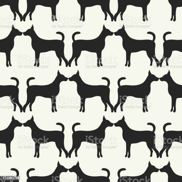 Animal seamless vector pattern of dog silhouettes vector id474980780?b=1&k=6&m=474980780&s=612x612&h=uihkrca8rhin3yhb1ddy1vyzntt1ds7 7r0rw4rszag=