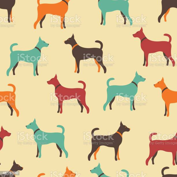 Animal seamless vector pattern of dog silhouettes vector id487752052?b=1&k=6&m=487752052&s=612x612&h=lwg2els59hjv9nyneti1 grr4fggyz ce5he4jyle c=