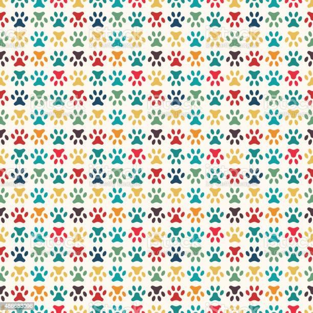 Animal seamless vector pattern of paw footprint endless texture vector id486683096?b=1&k=6&m=486683096&s=612x612&h= igisytm1hoejoyipbzuelmxtu00mcapqetuop6kj14=