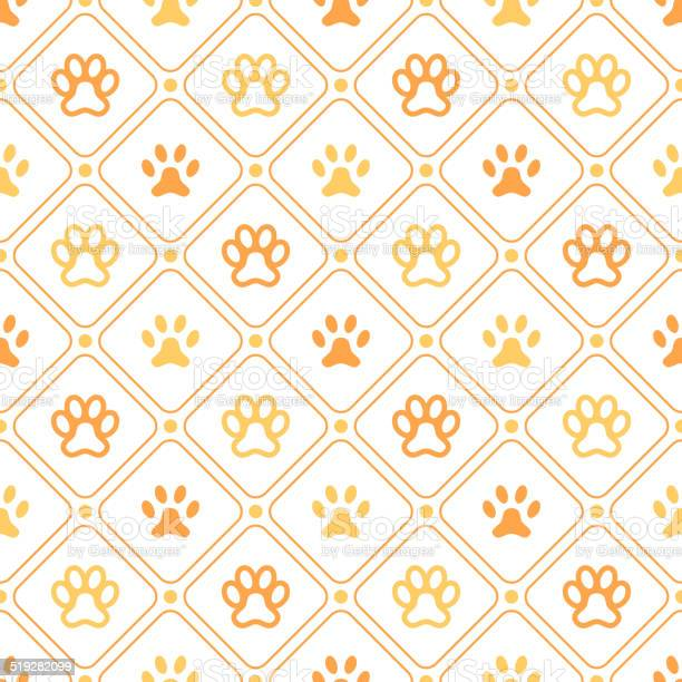 Animal seamless vector pattern of paw footprint line and dot vector id519282099?b=1&k=6&m=519282099&s=612x612&h=fxmrgmaprq565pocush0fbgentghxkdel9micht6x8s=