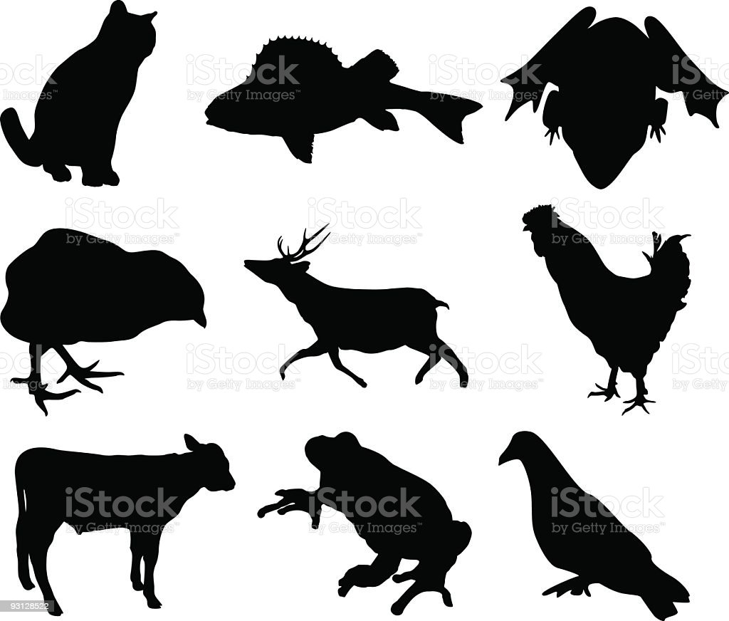 Animal shapes royalty-free stock vector art
