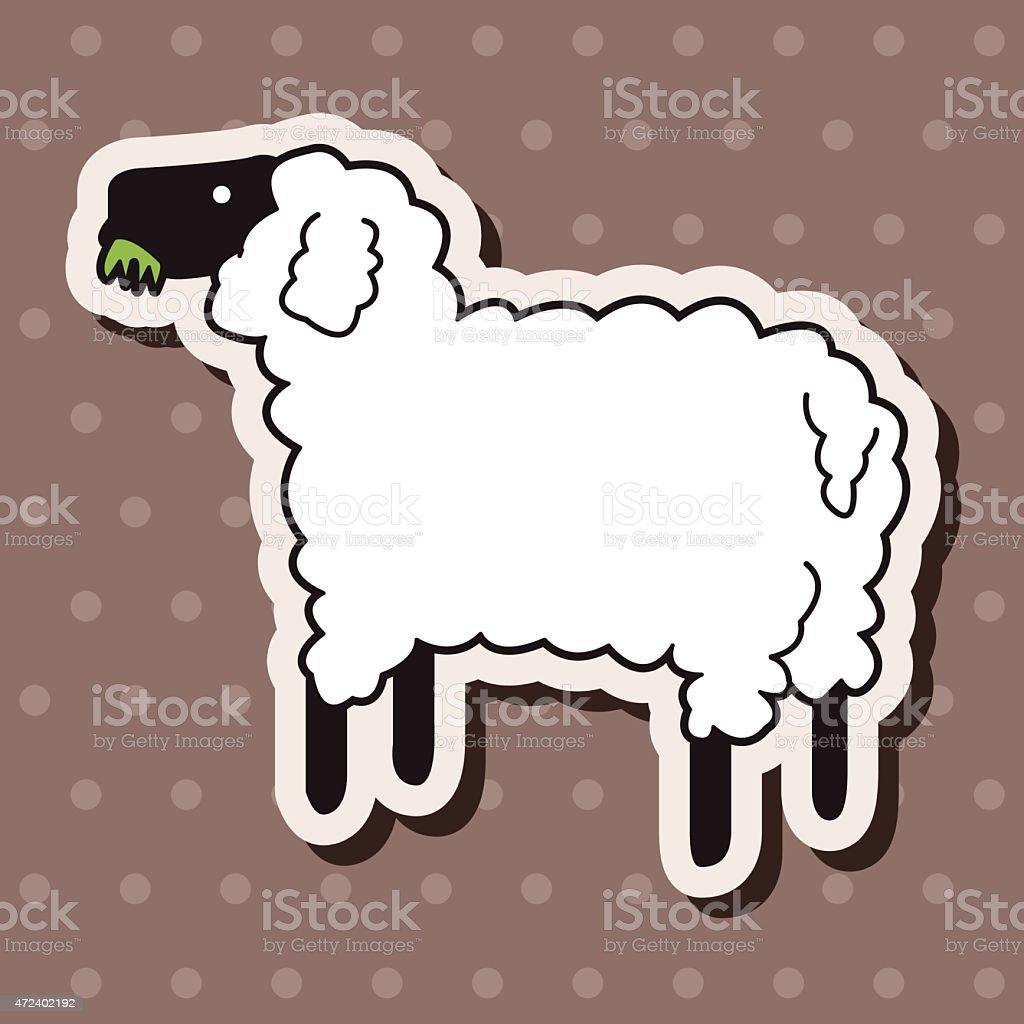 動物の羊カットイラストテーマの要素 2015年のベクターアート素材や