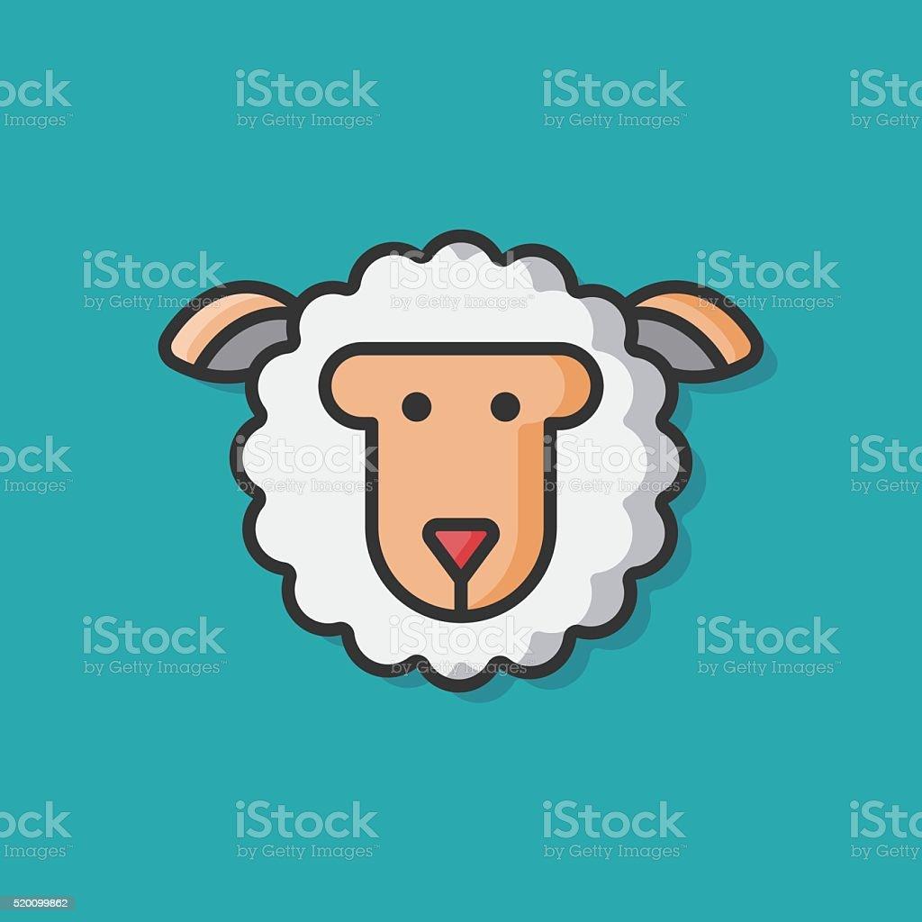 Icône de vecteur animal mouton - Illustration vectorielle