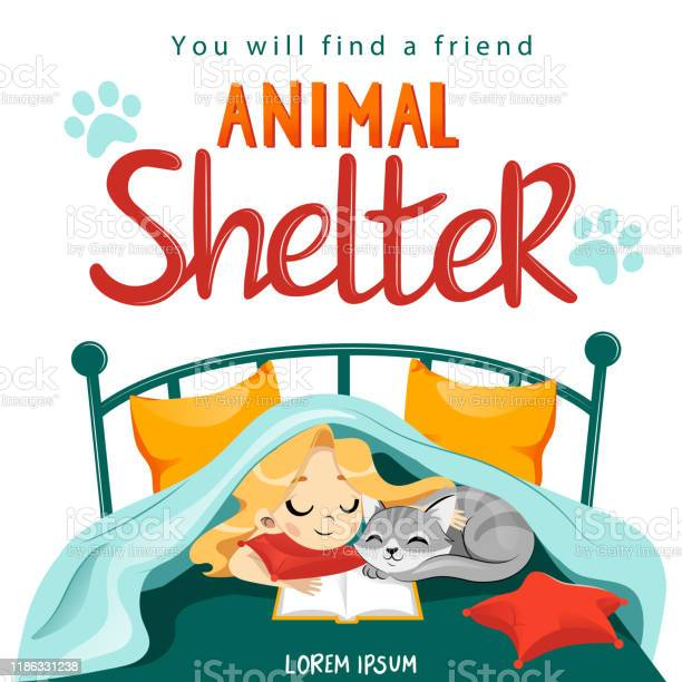 Animal shelter design poster with child cat and decorations showes vector id1186331238?b=1&k=6&m=1186331238&s=612x612&h=0o7de3j7ecctbwdobgxpuutk447r06fpew1  egk bk=