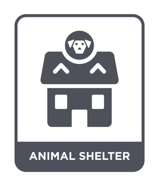 animal shelter icon vector on white background, animal shelter trendy filled icons from Charity collection animal shelter icon vector on white background, animal shelter trendy filled icons from Charity collection animal shelter stock illustrations